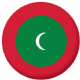 Maldives Country Flag 58mm Mirror Keyring